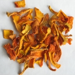 Dehydrated pumpkin strips